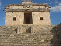 Dzibilchaltun, Yucatan, Mx., front view of the Temple, note the  by <b>Peter H Orlick</b> ( a Panoramio image )
