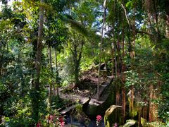 Bali — The Goa Gajah (Elephant Cave) complex at Bedulu village ¦ by <b>pilago</b> ( a Panoramio image )