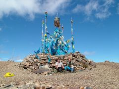 Great Oboo on top of Burkhan Khaldun by <b>Marmai Ippolito</b> ( a Panoramio image )