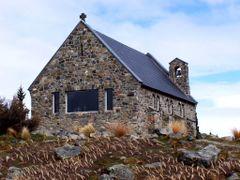 Lake Tekapo - Iglesia del Buen Pastor / Good Shepherd Church by <b>javier herranz</b> ( a Panoramio image )