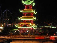 """""""China"""" - Tivoli by Night, Copenhagen, Denmark by <b>Jan Sognnes</b> ( a Panoramio image )"""