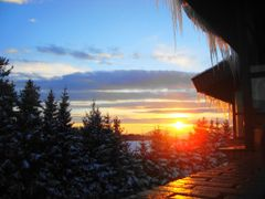 Зимски сунчев смирај (Winter at a sunset)  by <b>brko.jabuka</b> ( a Panoramio image )