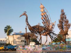 Statue of Peacock made by Machinery Parts  12/2010 by <b>F.Zaman</b> ( a Panoramio image )