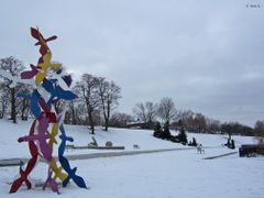 """Morning Flight"" by Gerald Gladstone - Odette Sculpture Park, Wi by <b>Irene Kravchuk</b> ( a Panoramio image )"