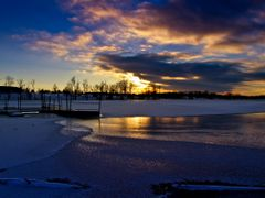 Blue Golden Sunset with Ice Water Snow Reflection 6 - Jacobson P by <b>Kalin Ranchev</b> ( a Panoramio image )