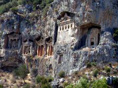 Caunos Kaya Mezarlar?. turkiye mugla dalyan by <b>TANJU KORAY UCAR</b> ( a Panoramio image )