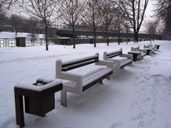 Benches in winter (Contest 1/2011) by <b>frdasa</b> ( a Panoramio image )