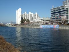 The river with buildings by <b>peacemaker453354 (No Views)</b> ( a Panoramio image )