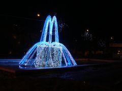 Gryfino - zimowa fontanna - winter fountain by <b>Dworzanski.Gryfino</b> ( a Panoramio image )