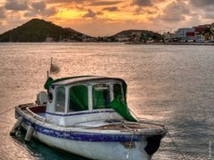 Sunset over Charlotte Amalie Harbor by <b>Michael Braxenthaler</b> ( a Panoramio image )