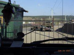 Kjachta MGL - Rus Grenze mit Offnungszeiten by <b>Eckhard Geissler</b> ( a Panoramio image )
