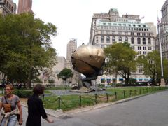 New York - Battery Park - The Sphere of the World Trade Center b by <b>Chinappi</b> ( a Panoramio image )