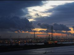 Rotterdam-Europoort - Colourful Sunset by <b>Ria Maat</b> ( a Panoramio image )