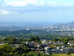 Port Louis and its cybercity, view from Curepipe, Mauritius by <b>rod bally</b> ( a Panoramio image )
