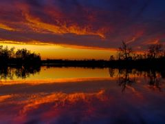 Blue Red Purple Golden Sunset with Water Reflection 2 - Jacobson by <b>Kalin Ranchev</b> ( a Panoramio image )