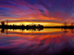 Blue Red Purple Golden Sunset Panorama with Water Reflection - J by <b>Kalin Ranchev</b> ( a Panoramio image )