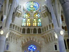 Sagrada Familia. The inside of the Temple Holy Family. by <b>ESTITXU</b> ( a Panoramio image )