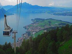 SWI Weggis Rigi (Kaltbad) [Vierwaldstaettersee] from Luftseilbah by <b>KWO Tsoumenis</b> ( a Panoramio image )