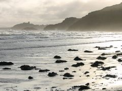 Criccieth Castle from Black Rock Sands by <b>pete.t</b> ( a Panoramio image )