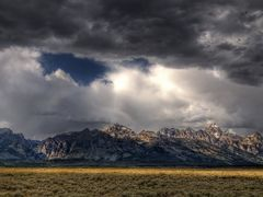 Teton Cloudscape Panorama by <b>Tom Lussier Photography</b> ( a Panoramio image )