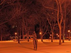 """""""Embrace"""" by Hans Schleeh - University of Windsor campus by <b>Irene Kravchuk</b> ( a Panoramio image )"""