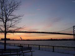 Ambassador Bridge, Windsor - Detroit by <b>Irene Kravchuk</b> ( a Panoramio image )