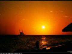 Honeymoon Sunset Series, Island of Aruba, Caribbean Sea, 1994 by <b>Alex Methenitis</b> ( a Panoramio image )