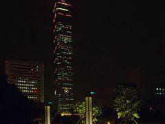 Taipei 101 by night, ??101??? by <b>picsonthemove</b> ( a Panoramio image )