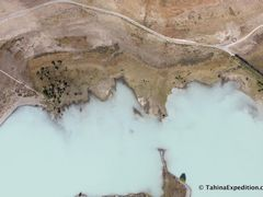 Milky water of Lake Tekapo (straight down) as we make downwind t by <b>Frank Taylor</b> ( a Panoramio image )