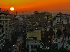 Sunrise in Casablanca, Boulevard de Paris by <b>_MM_</b> ( a Panoramio image )
