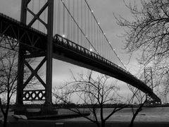 Ambassador Bridge, Windsor - Detroit by <b>Irene Kravchuk</b> ( a Panoramio image )