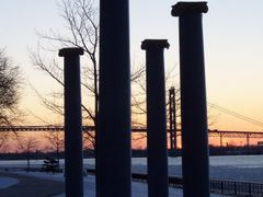 """The Columns"" by Ronald Zerafa - Odette Sculpture Park, Windsor, by <b>Irene Kravchuk</b> ( a Panoramio image )"