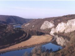 Meuse et falaise hiver 1997 by <b>Annick Demolin</b> ( a Panoramio image )