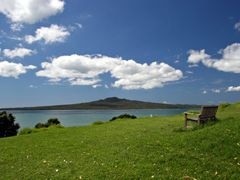 Rangitoto Volcano from North Head, Auckland NZ by <b>Ian Stehbens</b> ( a Panoramio image )