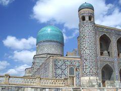 Samarqand - Medersa Oulougbeg  -   Uzbekistan by <b>© SisAnnick</b> ( a Panoramio image )