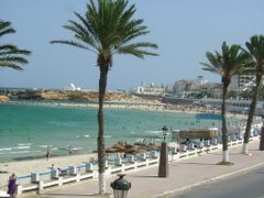 Beach of Monastir by <b>AlexMatos</b> ( a Panoramio image )
