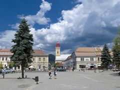 P-ta Millennium (spre Catedrala reformata) by <b>Antonius Plaian</b> ( a Panoramio image )