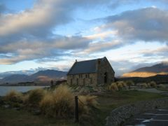 Lake Tekapo, The Church of the Good Shepherd by <b>Denis Campbell</b> ( a Panoramio image )