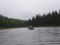 Boat on stream in spring. May 2009. by <b>Lukas Eddy</b> ( a Panoramio image )