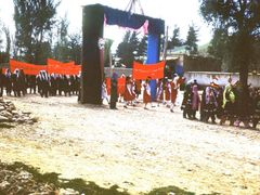 Qala-e-Naw. Holiday. Fiesta. High day. Калай-Нау. Школьницы на п by <b>Сургуль</b> ( a Panoramio image )