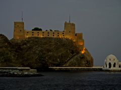 Muscat Castle at dusk by <b>the-image-farm</b> ( a Panoramio image )