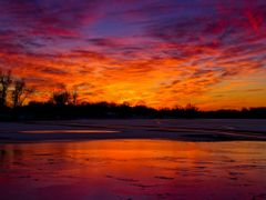Purple Red Golden Sunset with Ice Water Snow Reflection 5 - Jaco by <b>Kalin Ranchev</b> ( a Panoramio image )