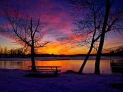 Purple Red Golden Sunset with Ice Water Snow Reflection 3 - Jaco by <b>Kalin Ranchev</b> ( a Panoramio image )