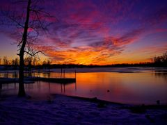 Purple Red Golden Sunset with Ice Water Snow Reflection 2 - Jaco by <b>Kalin Ranchev</b> ( a Panoramio image )