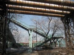 Stairs to the Transitional Bridge +  CHP Pipes  / Лестница на пе by <b>V@dim Levin</b> ( a Panoramio image )