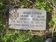 Minos Cannon Soldier,  -N. C. Militia American Revolution 1756,  by <b>hughmorris</b> ( a Panoramio image )
