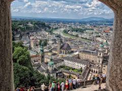 Salzburg, Austria, View from Fortress Festung Hohensalzburg Wind by <b>Elena Omelchenko</b> ( a Panoramio image )