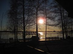 Sunset in  Iltasmaki, Palkane, Finland by <b>tombstonecowboy</b> ( a Panoramio image )