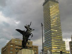 Mexico City.  Latin-American Tower by <b>veranik</b> ( a Panoramio image )