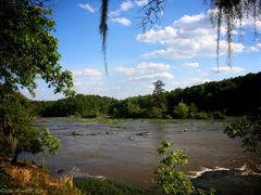 The mighty Flint ~ Yellow Jacket Shoals by <b>MaryAlice</b> ( a Panoramio image )